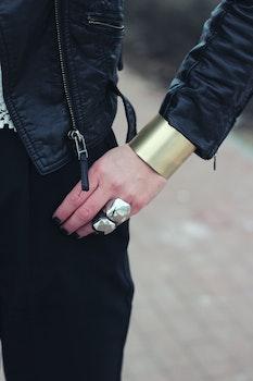 Wide Bangle Bracelet III