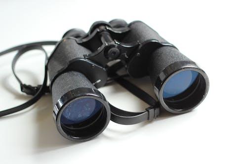 Foto d'estoc gratuïta de binoculars, equips, espia, negre