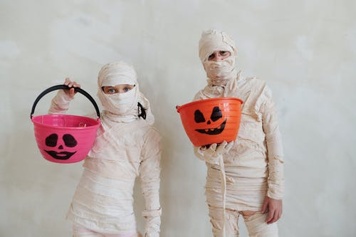 Kids In Mummy Costumes