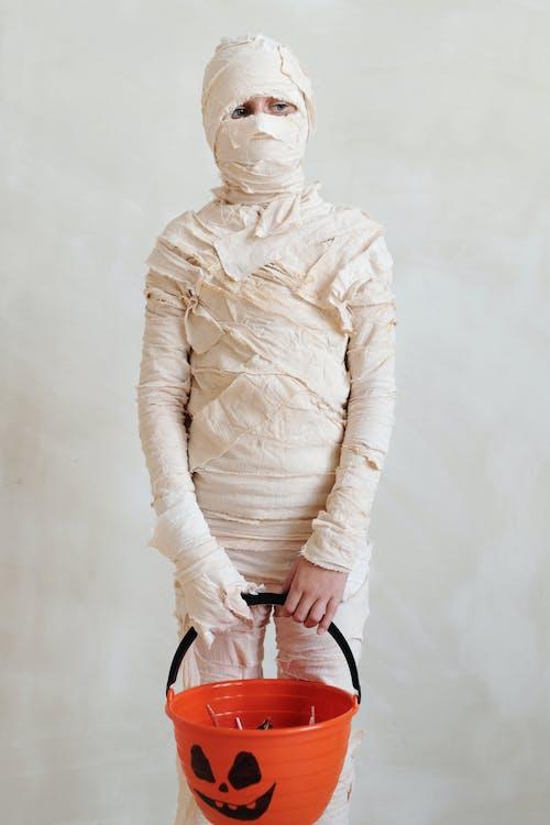 Kid in a Mummy Costume