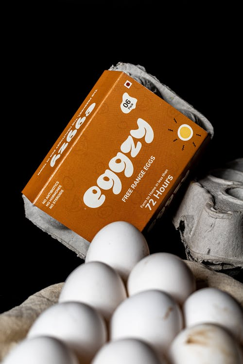 Egg and Egg in Brown Box