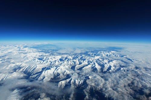 Ilmainen kuvapankkikuva tunnisteilla lintuperspektiivi, lumi, maisema, pilvet
