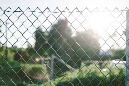 Grey Metal Fence