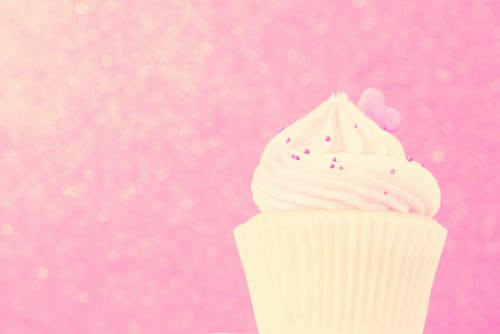Cupcake on Pink Background