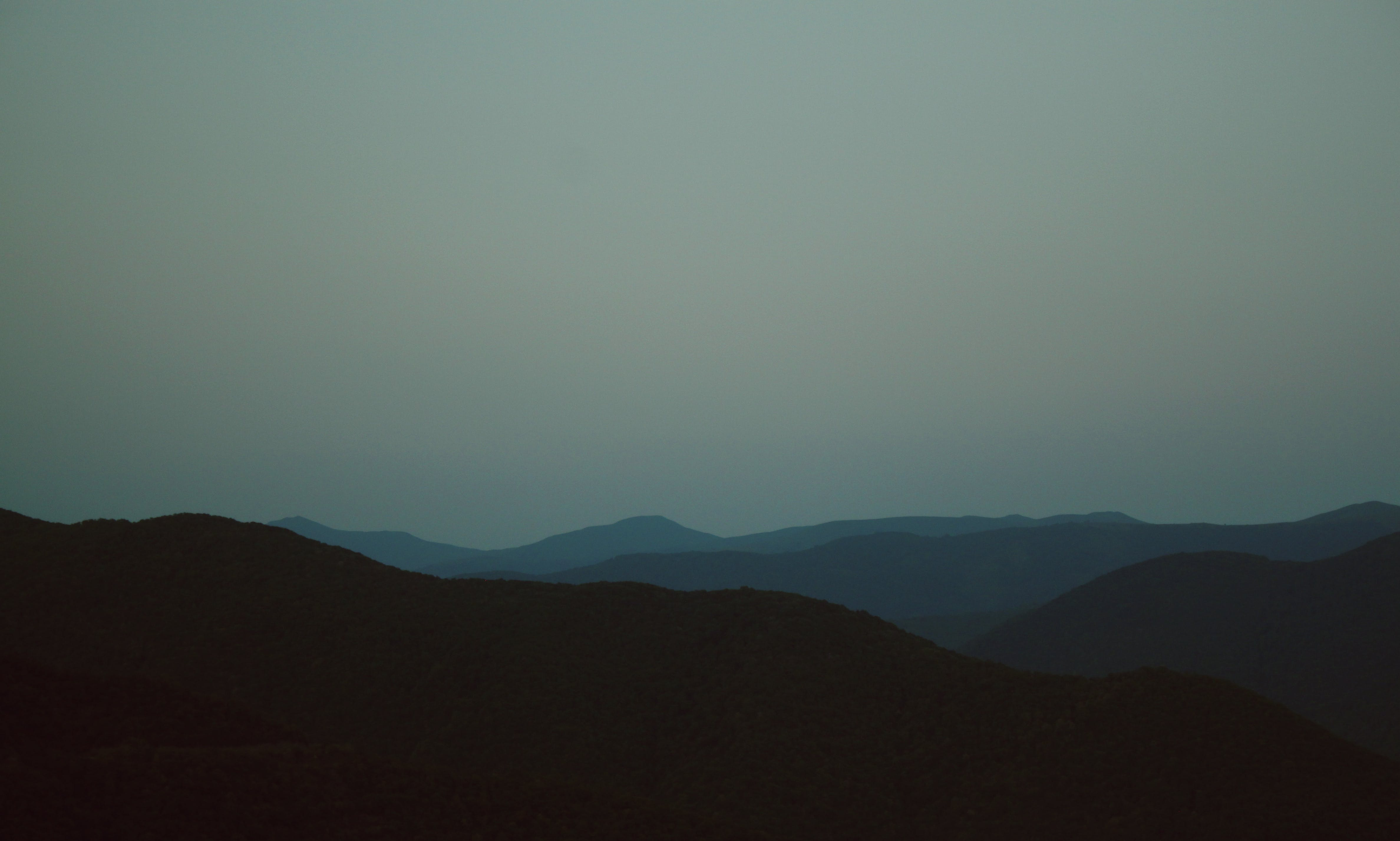 Silhouette of Hills
