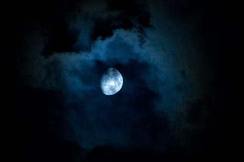 Free stock photo of clouds, half, moon