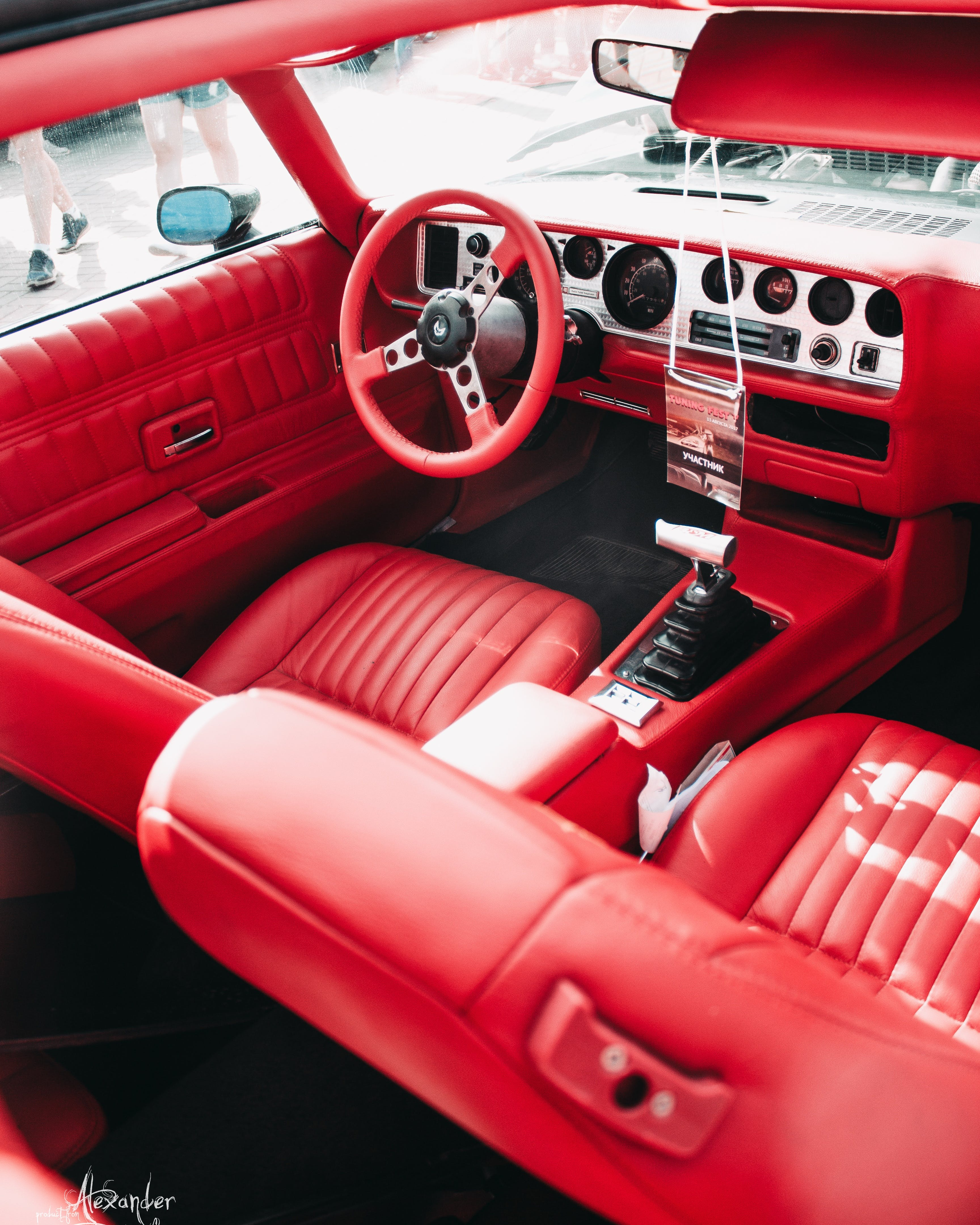Free stock photo of red, car, interior