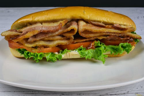 Free stock photo of bacon, blt sub, bread