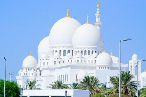 Sheikh Zayed Mosque Under Blue Sky