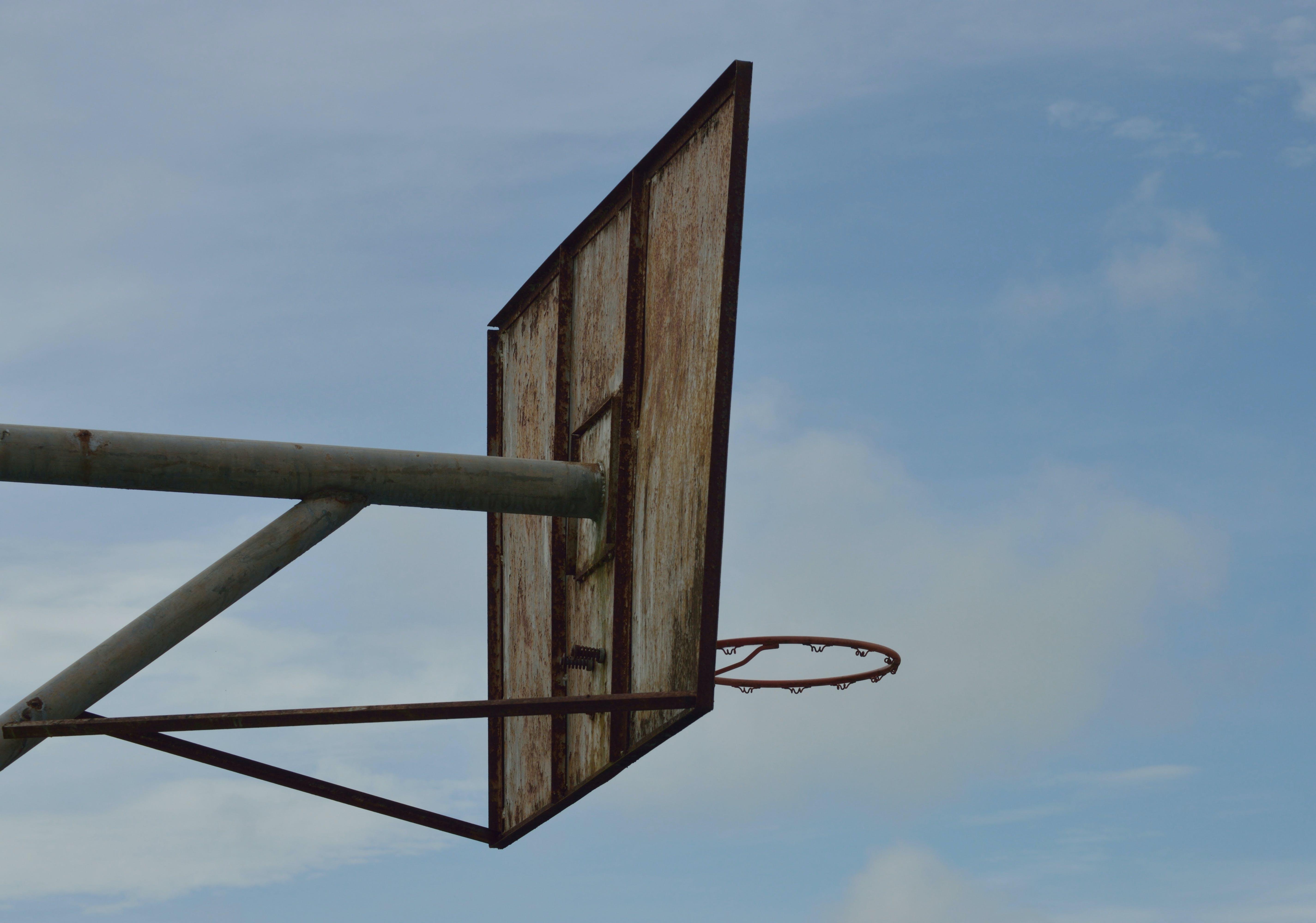 Beige Basketball Hoop