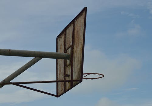 Beige Basketball Hoop