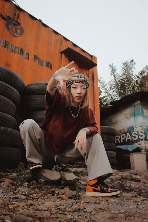 Ingyenes stockfotó abroncs, alacsony szög, ázsiai nő témában