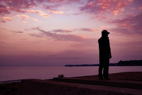 Free stock photo of beach, dawn, man, person