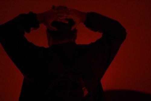Free stock photo of dark, hand, head, moody