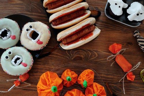 Halloween Food On Wooden Table