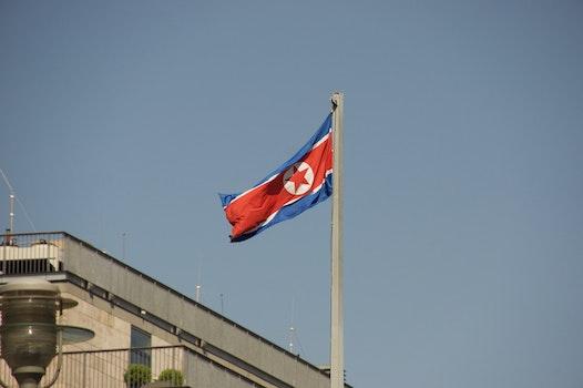 Free stock photo of flag, North Korea, Democratic People's Republic of Korea