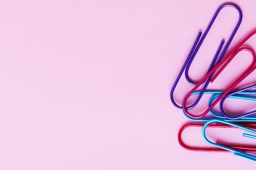 Photos gratuites de #agrafe, #papeterie, #rose, abstrait