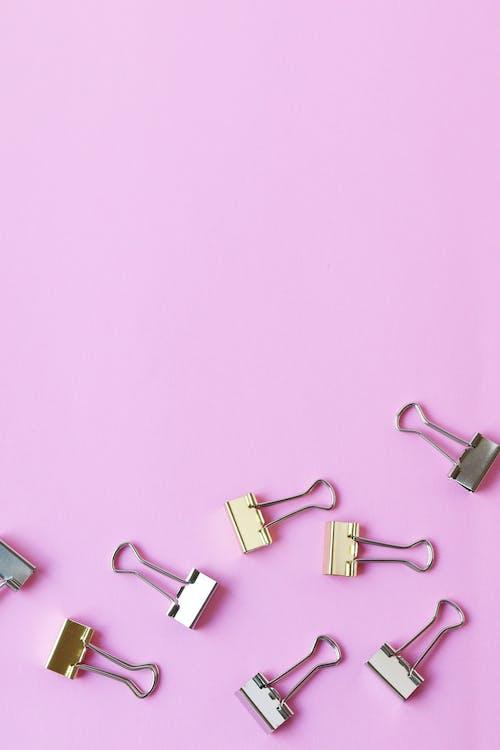 Photos gratuites de #agrafe, #papeterie, #rose, à l'intérieur