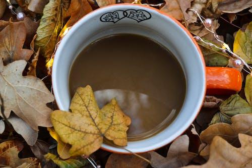 Orange Ceramic Mug With Coffee