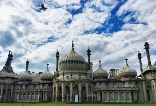 The Royal Pavilion Under Cloudy Sky