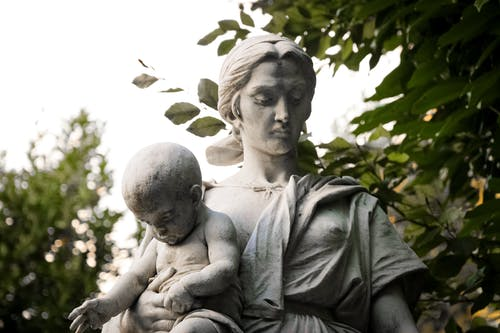Classical Sculpture of Mother and Child