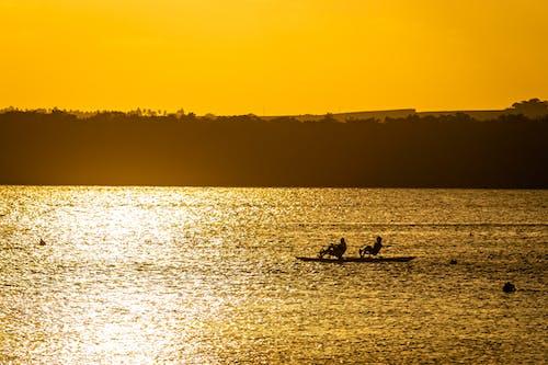 Photos gratuites de à contre-jour, aube, bateau, brésil