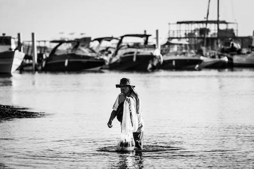 Photos gratuites de adulte, bateau de pêche, brésil, eau