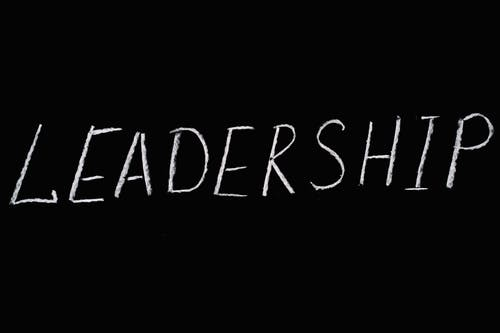 Leadership Lettering Text on Black Background