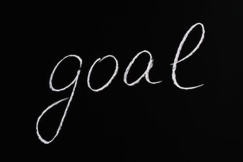 Zielbeschriftungstext Auf Schwarzem Hintergrund