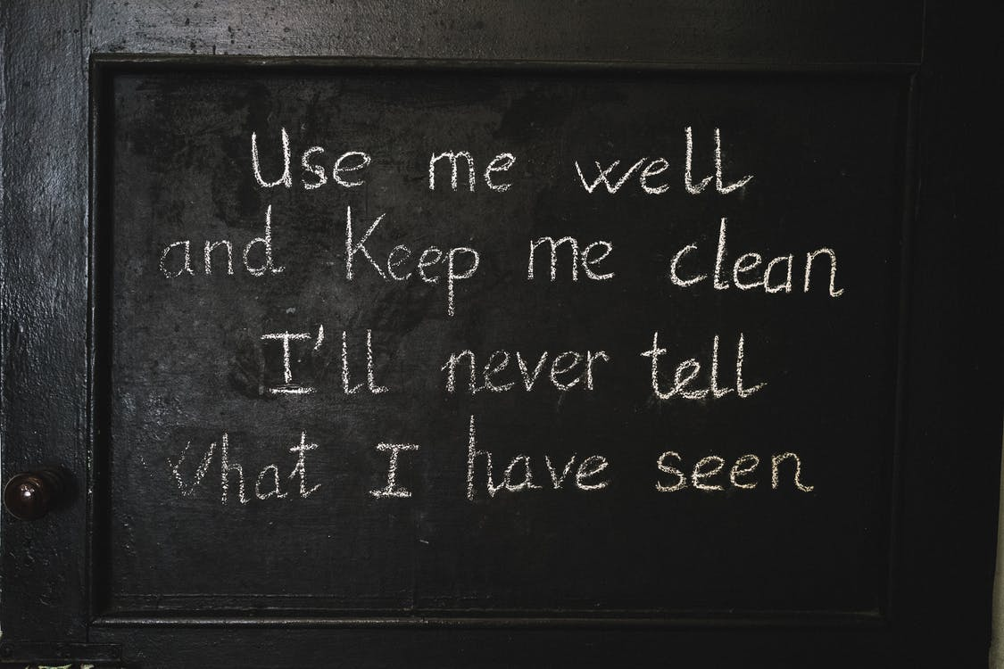 Kreativer Zitat Beschriftungstext Auf Schwarzem Hintergrund