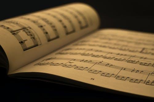 Foto profissional grátis de aprender, composição musical, dado