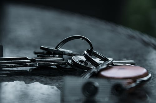 Silver Keys In Close Up Photography