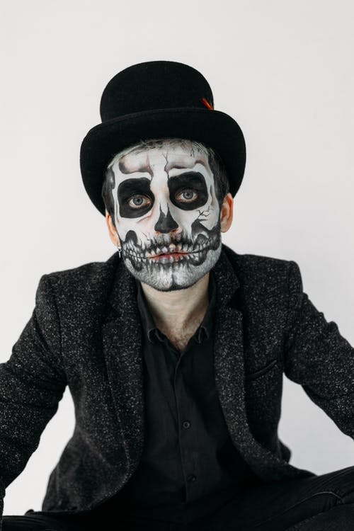 Man With A Skull Face Paint