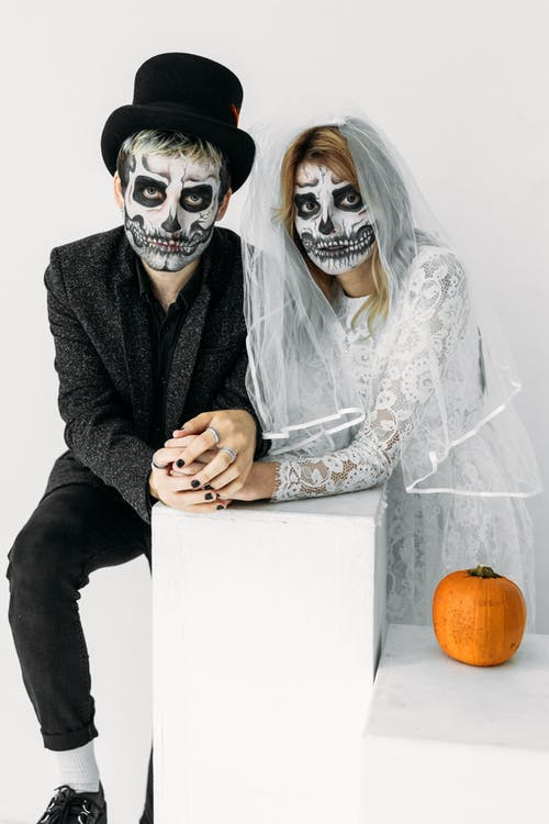 Man And Woman With Face Paints