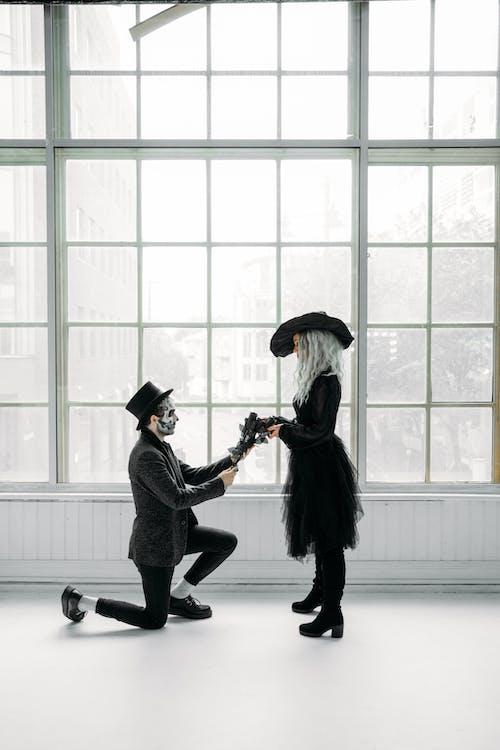 Man Making A Proposal To The Woman