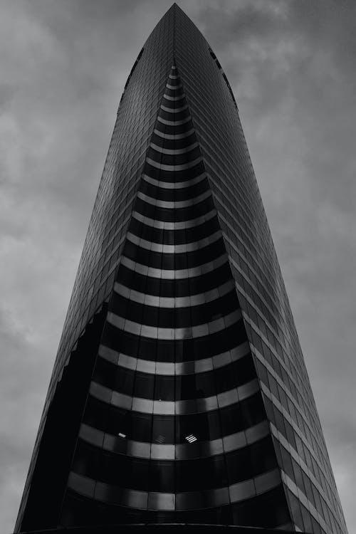 Modern skyscraper in city downtown