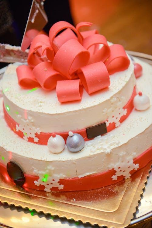 Tasty cake with Christmas decoration