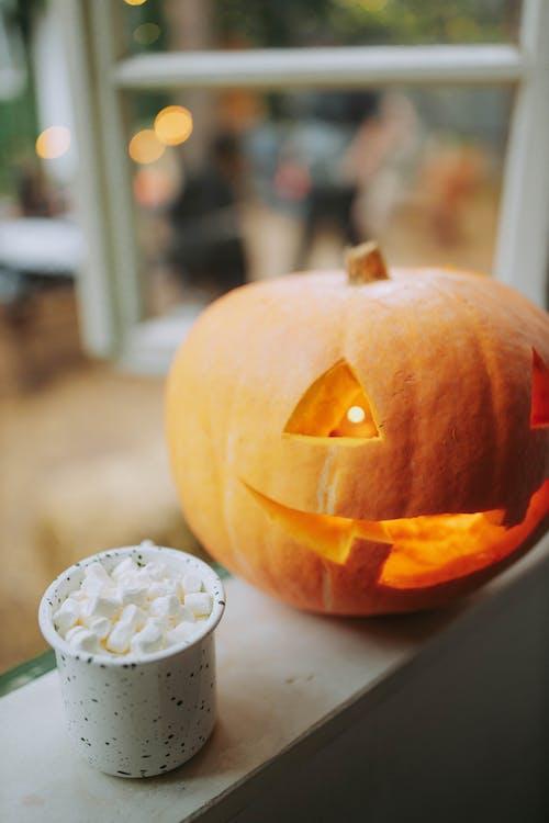 Pumpkin With White Round Button
