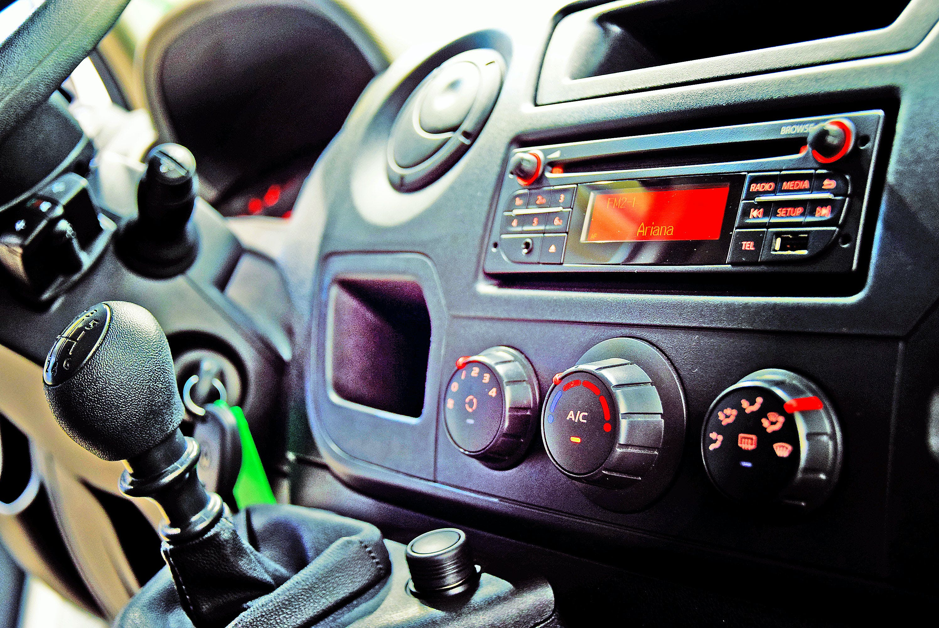 Free stock photo of car, climate, gear shift, radio