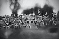 cemetery, bw, b&w
