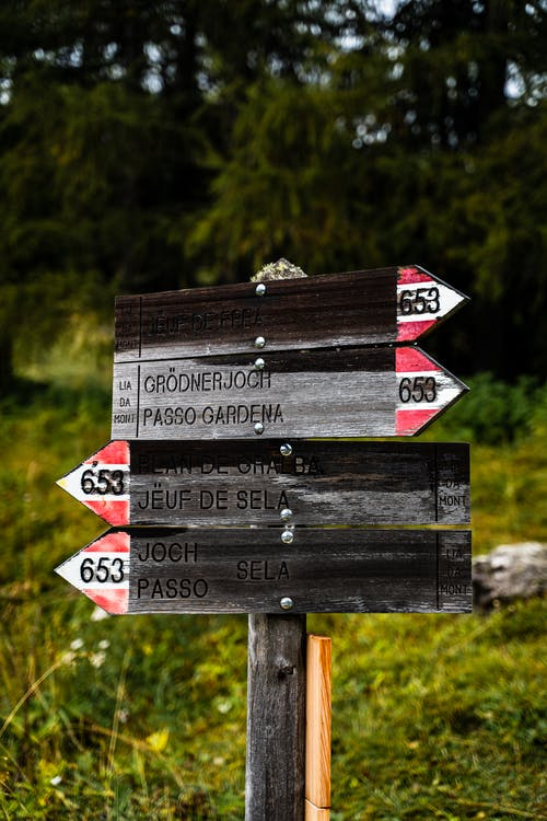 Black and White Wooden Signage