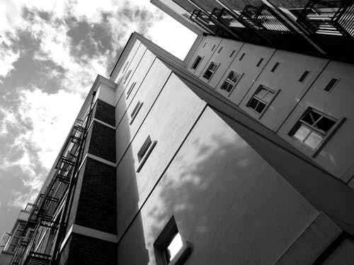 Worm's Eye View of Gray Building