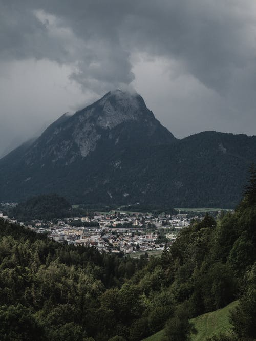 Mountain Under Gray Clouds