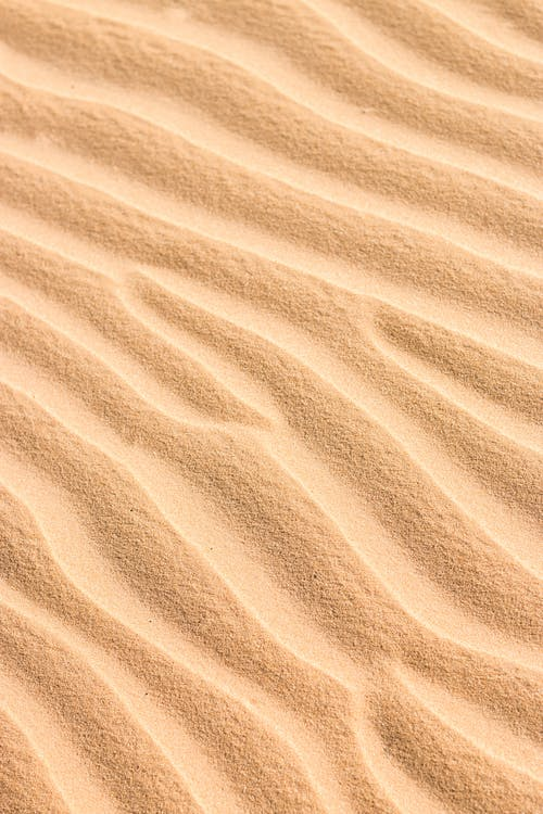Textured background of golden sand in desert