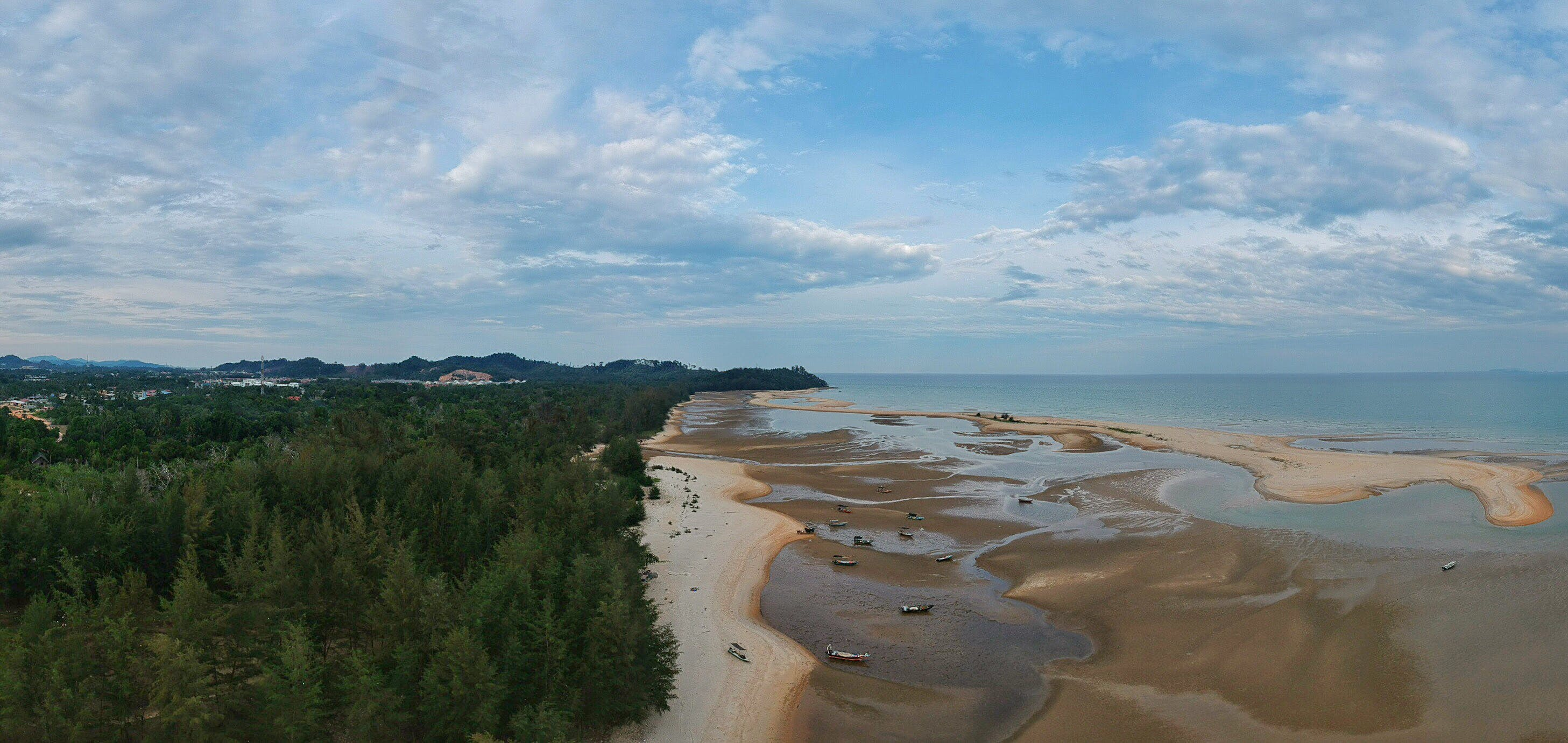 aerial shot, aerial view, beach