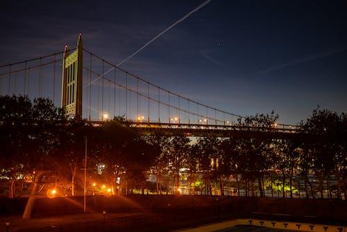 Free stock photo of air trails, bridge, chem trails, sky