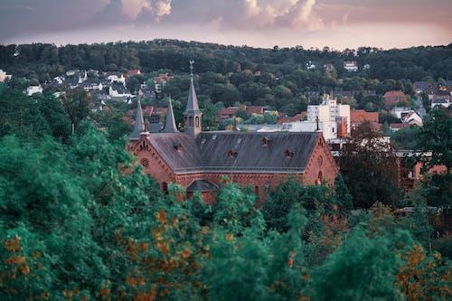 Kostenloses Stock Foto zu architektur, bäume, dach