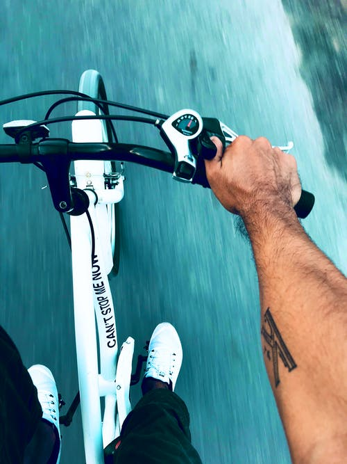 Free stock photo of arm tattoo, bicycle, fitness, healthy