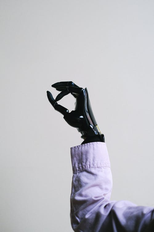 Person With Prosthetic Hand
