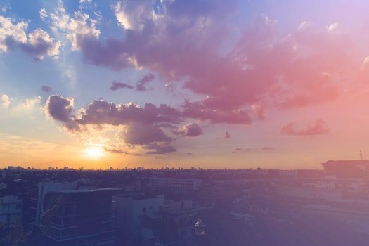 Free stock photo of city, sky, sunset, sun